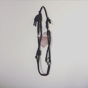 PORTS 1961 necklace cotton black buttons long